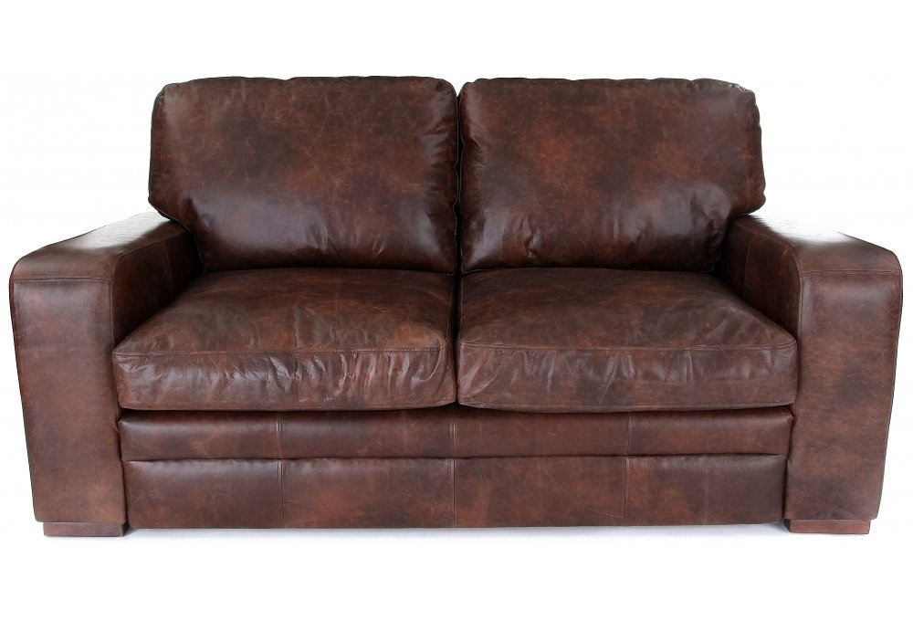 Urbanite vintage leather 3 seater sofa bed from old boot for Vintage leather sofa