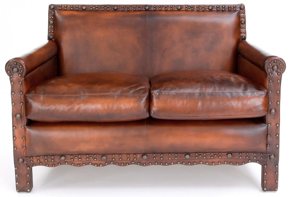 Liberty Original Leather Small 2 Seater Sofa From Old Boot