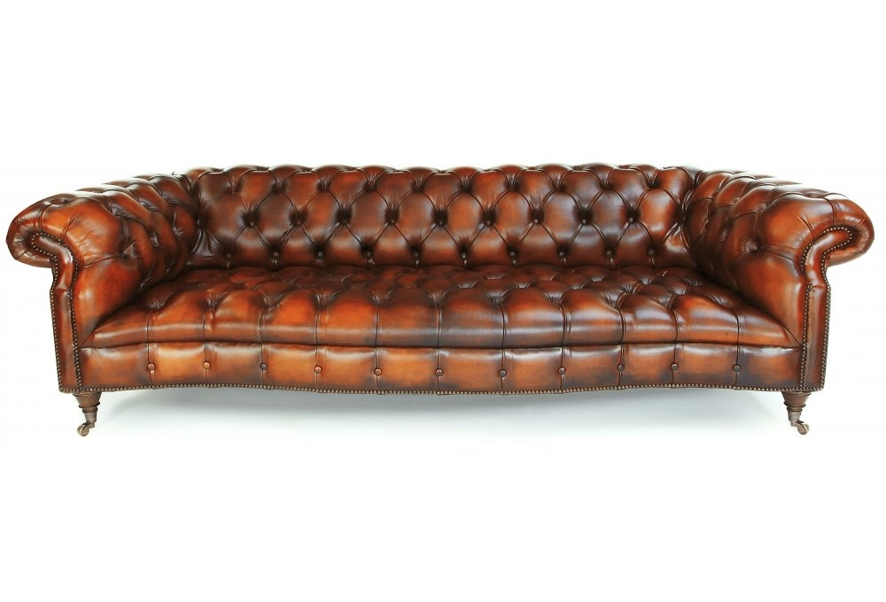 Grizzled Skipper 3 Seater Leather Chesterfield From Old