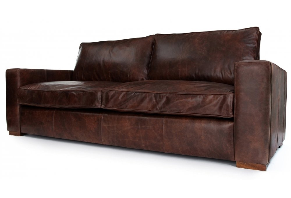 Battersea Vintage Leather Large 4 Seater From Old Boot