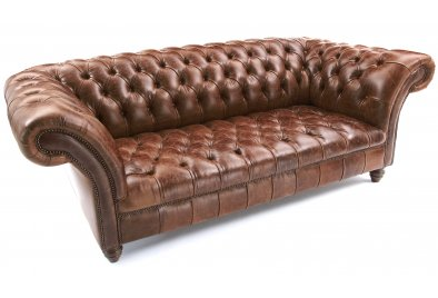 Brown leather chesterfield sofa brown chesterfield old for Sofa 45 grad