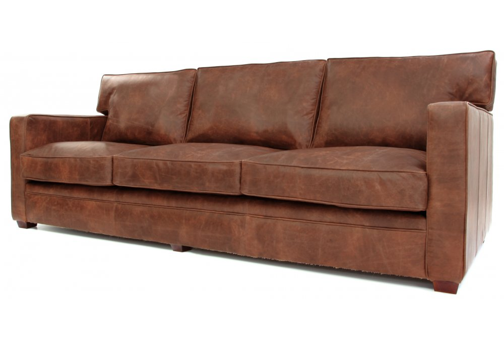Whitechapel Extra Large Vintage Leather Sofa Bed From Old