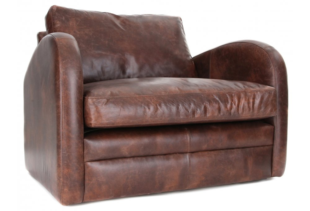 Camden Vintage Leather Snuggler From Old Boot Sofas