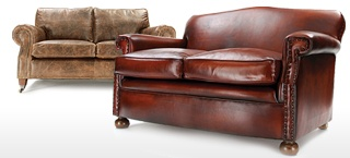 2 Seater Leather Sofas Small Leather Sofas Old Boot Sofas