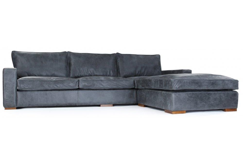 Rustic Leather Corner Sofa