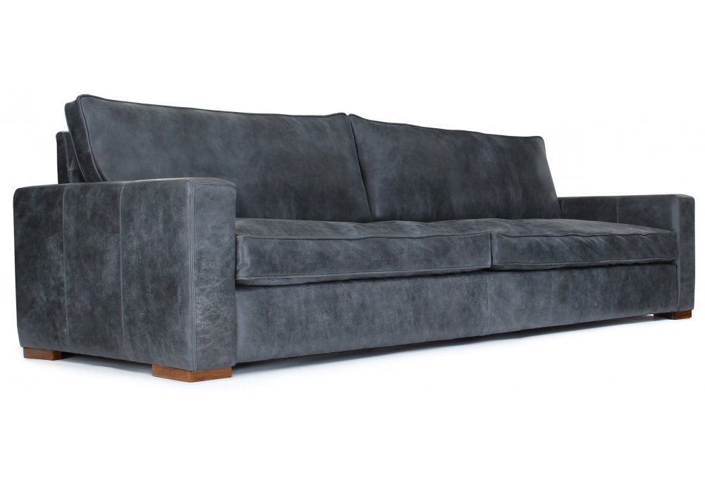 Rustic Leather Large 4 Seater Sofa