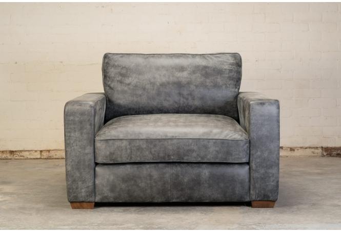 Battersea Snuggler Sofa in Industria Hot Choc leather