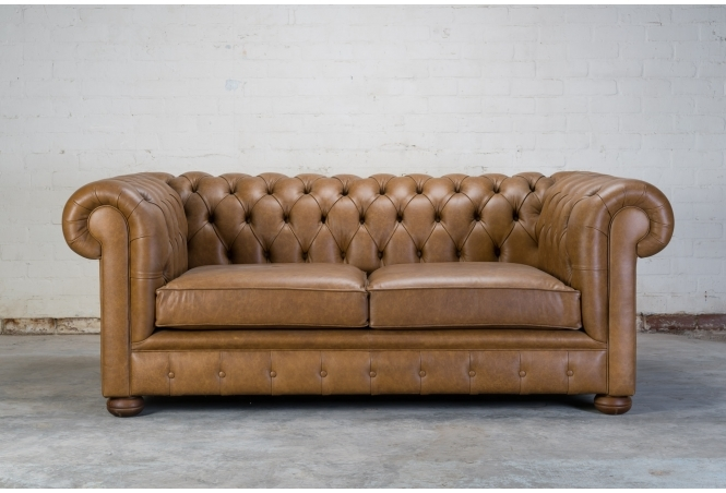 Bespoke Alfie 2 seater Sofa in Hobnail Lush leather