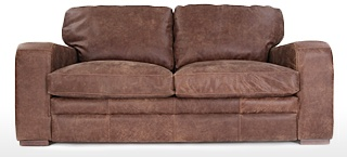 Grey Leather Sofas