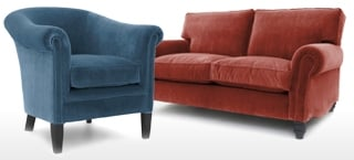 Vintage Velvet Sofas and Chairs