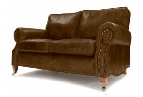 EXPRESS Hepburn 2 Seat Sofa in Hobnail Lush Leather