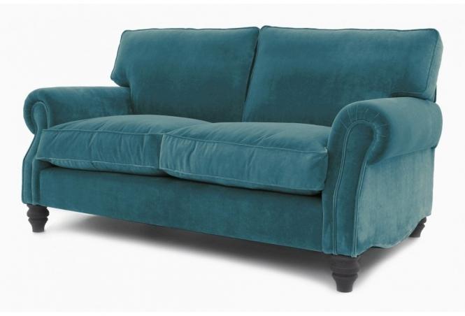 EXPRESS Hepburn 2 Seat Sofa in Vintage Azure Velvet