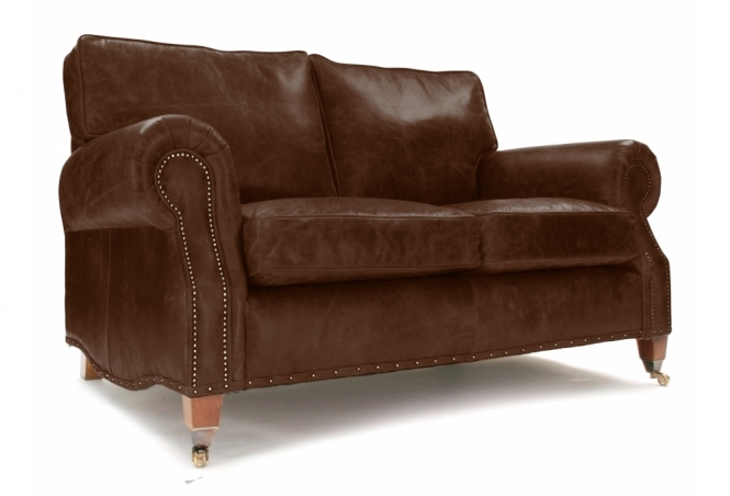 EXPRESS Hepburn Small 2 Seat Sofa in Hobnail Mocca Leather