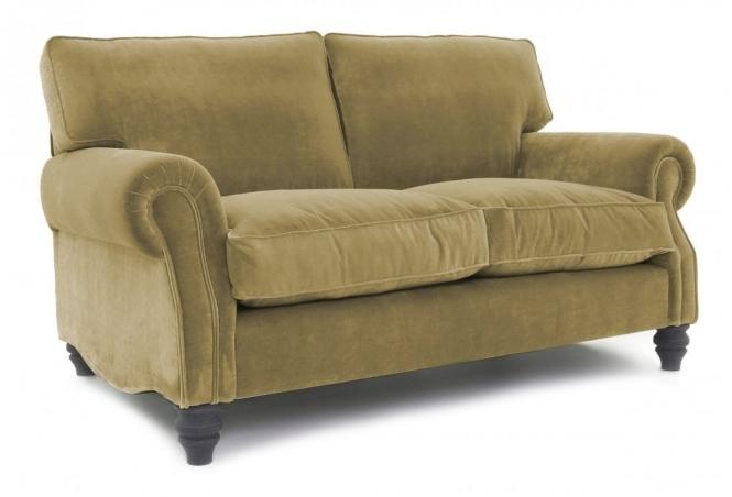 EXPRESS Hepburn Small 2 Seat Sofa in Vintage Olive Velvet