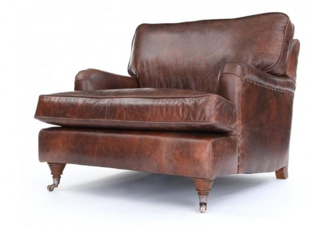 EXPRESS Howard Leather Snuggler in Vintage Brown Leather