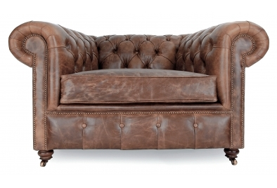 Esf 288 Luxury Chocolate Italian Leather Chesterfield Sofa