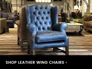 Leather chairs drop down