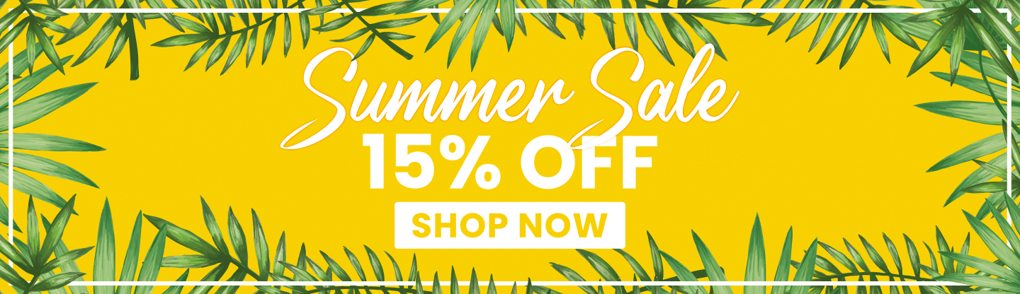 Summer Sale 15% OFF