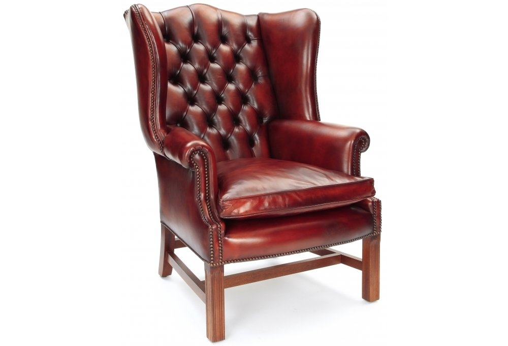 Eton Original Leather Wingback Chair From Old Boot Sofas
