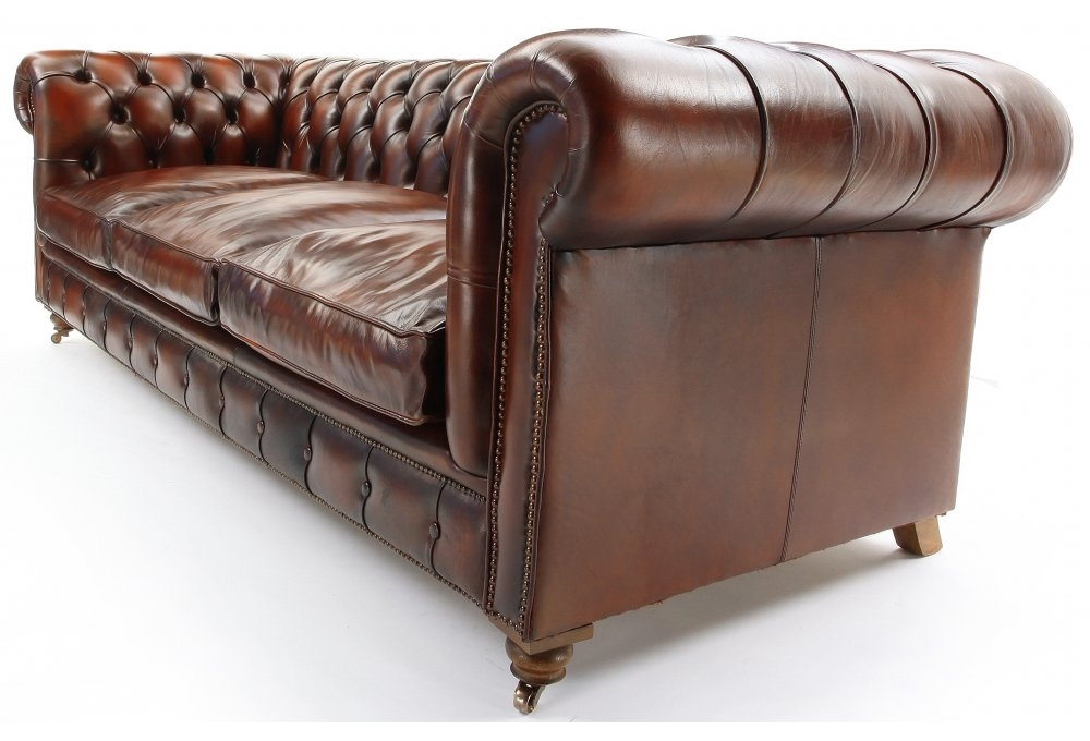 The Judge Original Leather 3 Seater Chesterfield From Old Boot Sofas