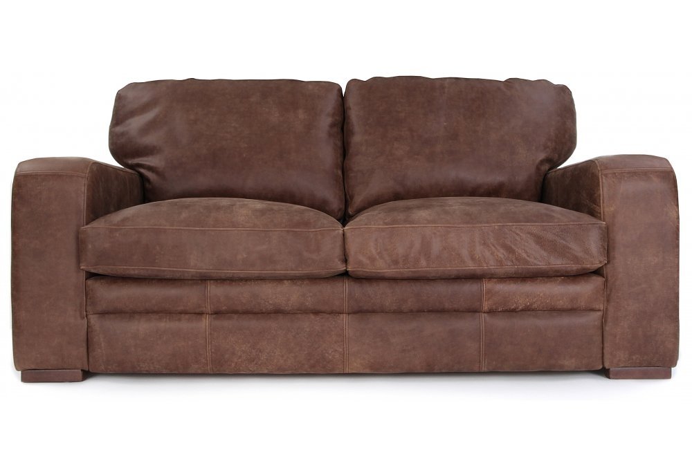 Urbanite Rustic Leather 2 Seater Sofa Bed From Old Boot
