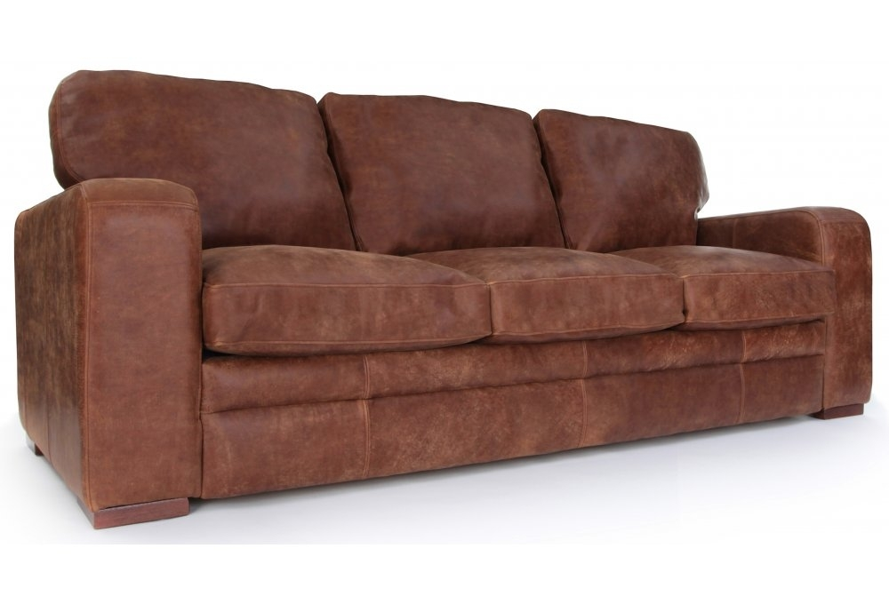 Urbanite Rustic Leather Extra Large Sofa From Old Boot Sofas