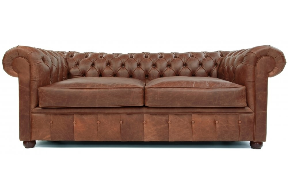 Chester Vintage Leather 2 Seat Chesterfield Sofa Bed From
