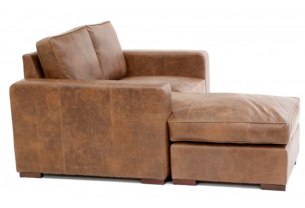 Battersea chaise end compact leather corner sofa from old for Chaise end sofa uk