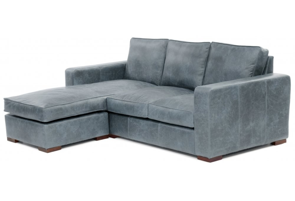 Leather corner sofa with chaise turin