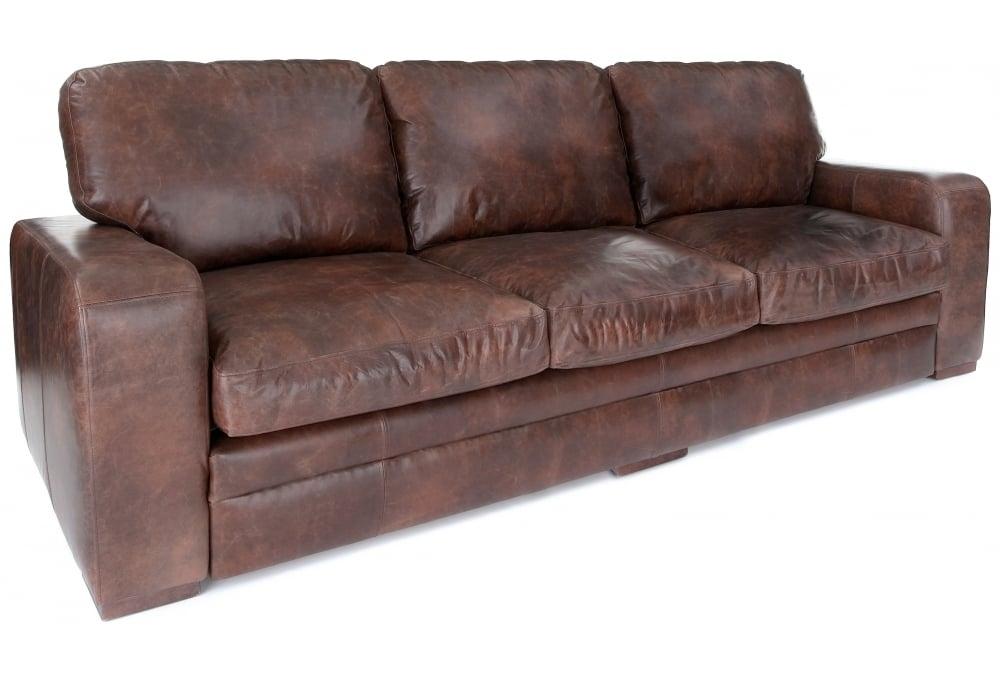 urbanite vintage leather extra large sofa from old boot. Black Bedroom Furniture Sets. Home Design Ideas