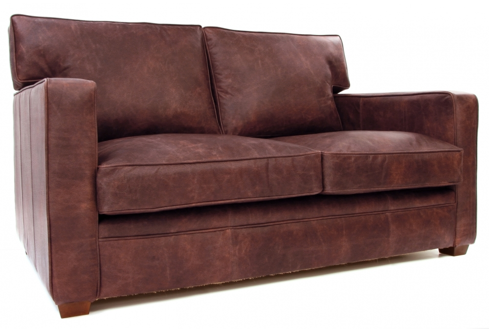 Whitechapel Hobnail Leather Small Two Seat Sofa From Old Boot