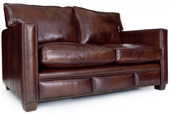 Spitalfield Original Leather Small 2 Seater Sofa From Old Boot Sofas