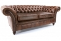 The graduate 2 seater vintage leather chesterfield sofa for Sofa 45 grad