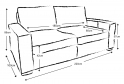 Battersea Large 4 Seater Sofa Bed