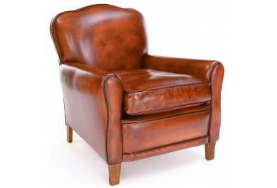 Poppy Club Chair  sc 1 st  Old Boot Sofas & Handmade leather chairs available from Old Boot Sofas