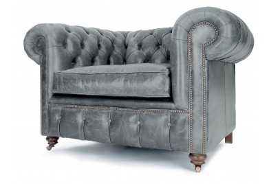 Grey Leather Chesterfield Sofas Quality Handmade Grey Chesterfields