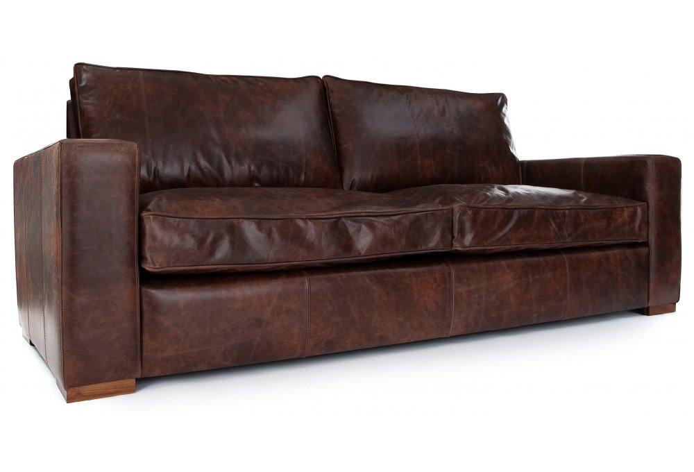 Battersea Sofa Bed Vintage Leather 3 Seater Sofa Bed