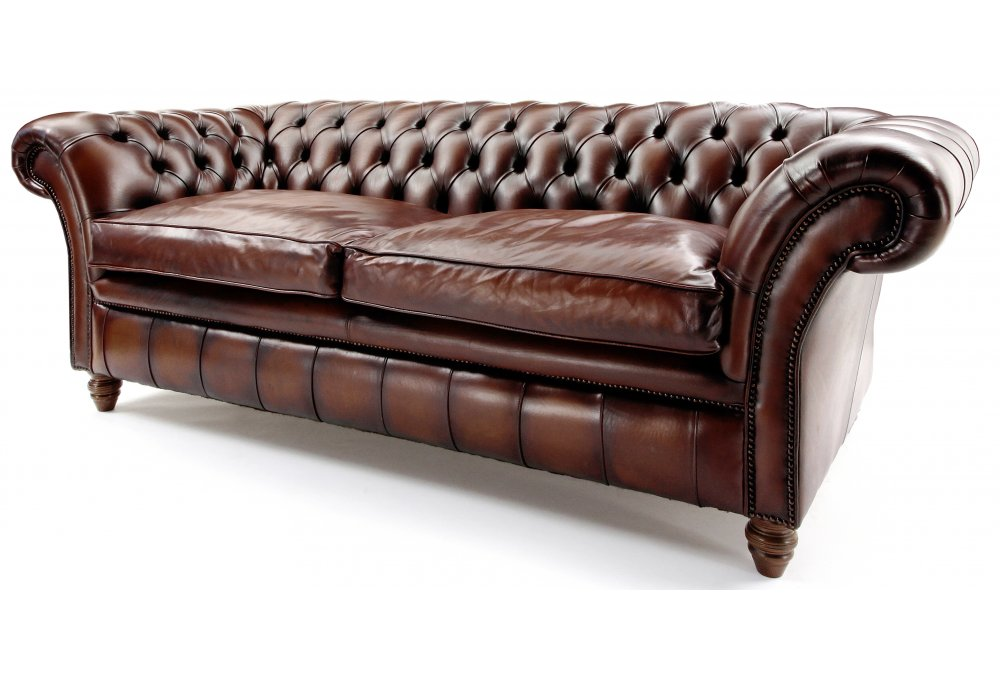 The Graduate 3 Seater Leather Chesterfield Sofa From Old Boot Sofas
