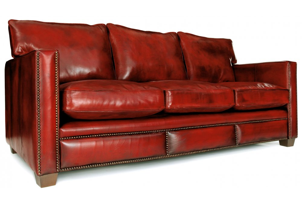 Spitalfield | Original Leather Large 4 Seater Sofa From Old ...