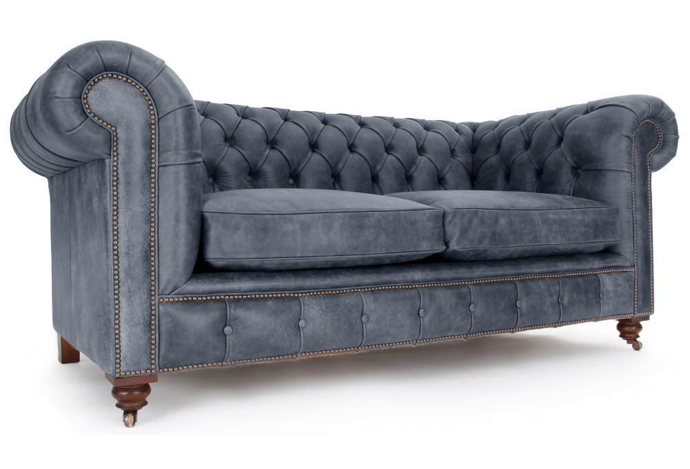 The Judge Rustic Leather 2 Seater Chesterfield From Old Boot Sofas