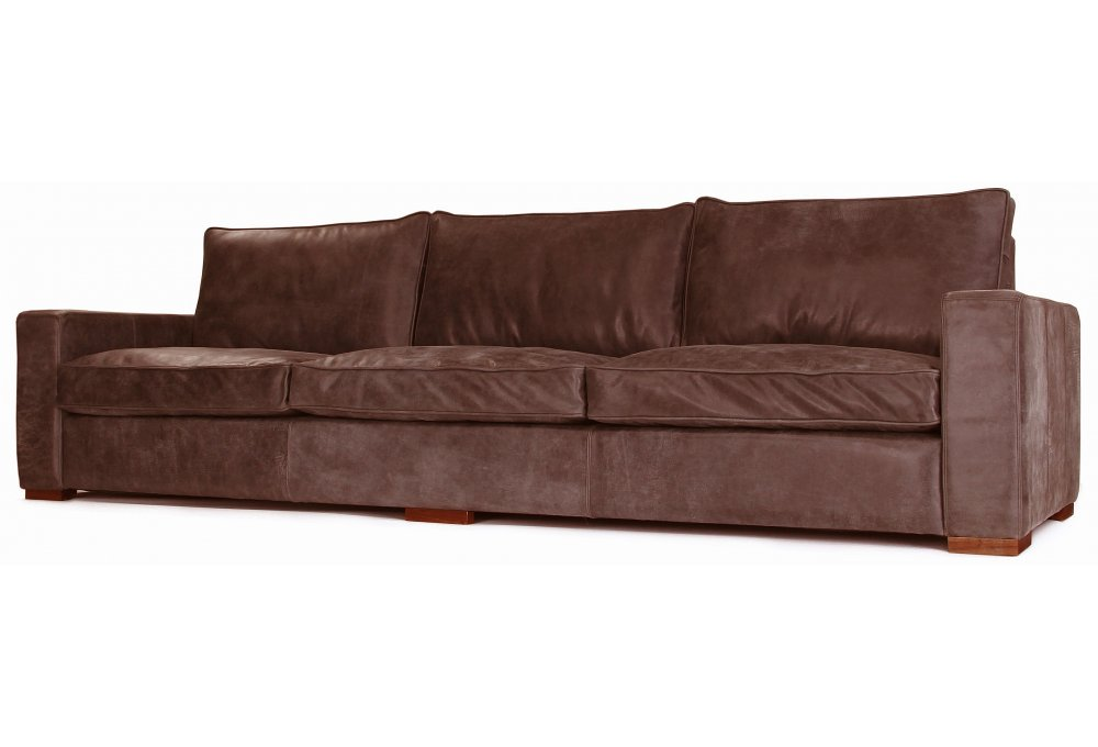 Battersea rustic leather extra large sofa from old boot for Large rustic sectional sofa