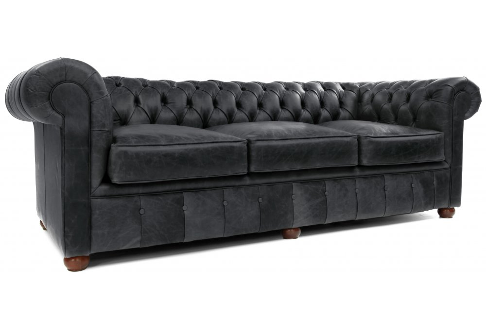 Chester Vintage Leather Large Chesterfield Sofa Bed From