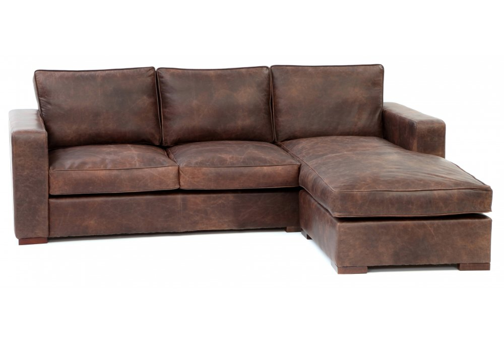 Battersea Chaise End Extra Large Leather Corner Sofa From Old Boot