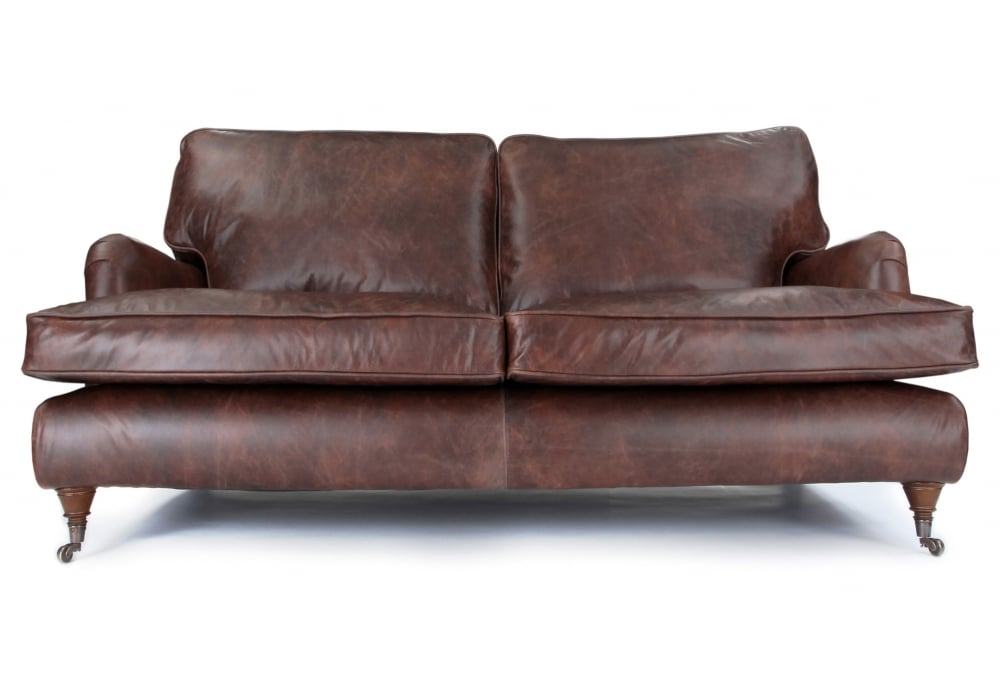 howard sofa vintage leather large 2 seater sofa from old boot sofas. Black Bedroom Furniture Sets. Home Design Ideas