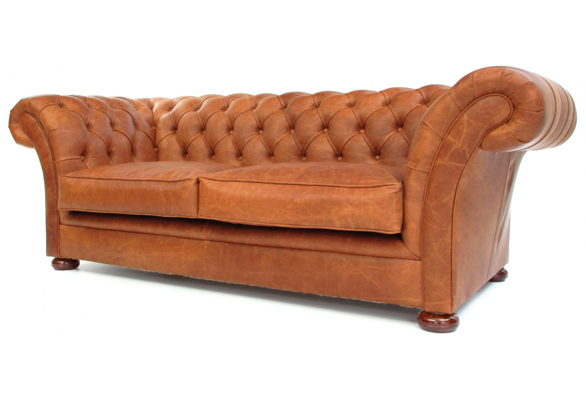 The Scholar 3 Seater Vintage Leather Chesterfield Sofa from Old Boot