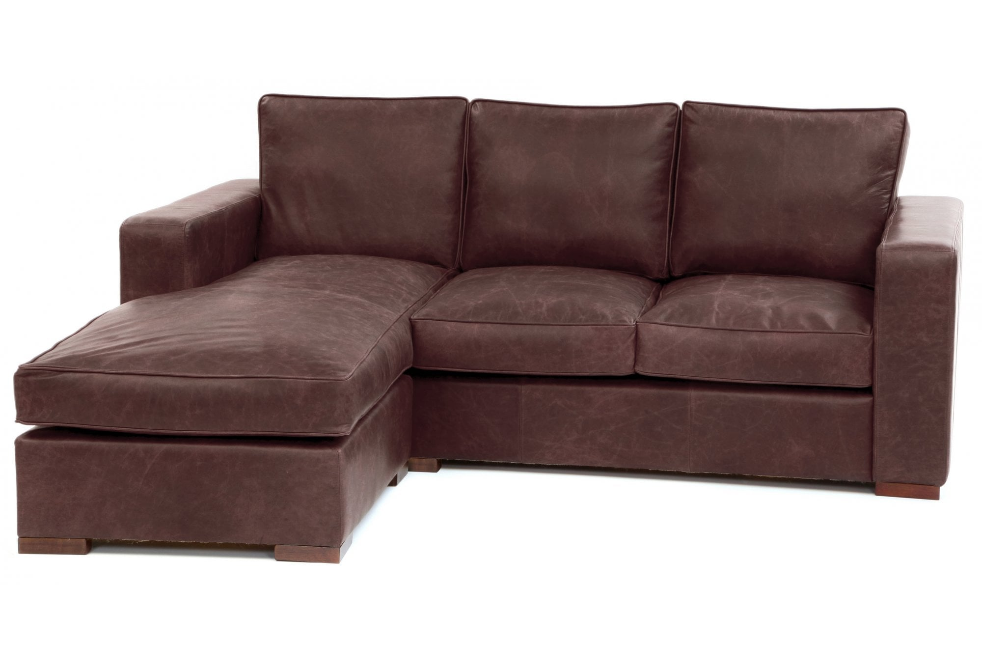 Battersea Chaise End Medium Leather Corner Sofa From Old