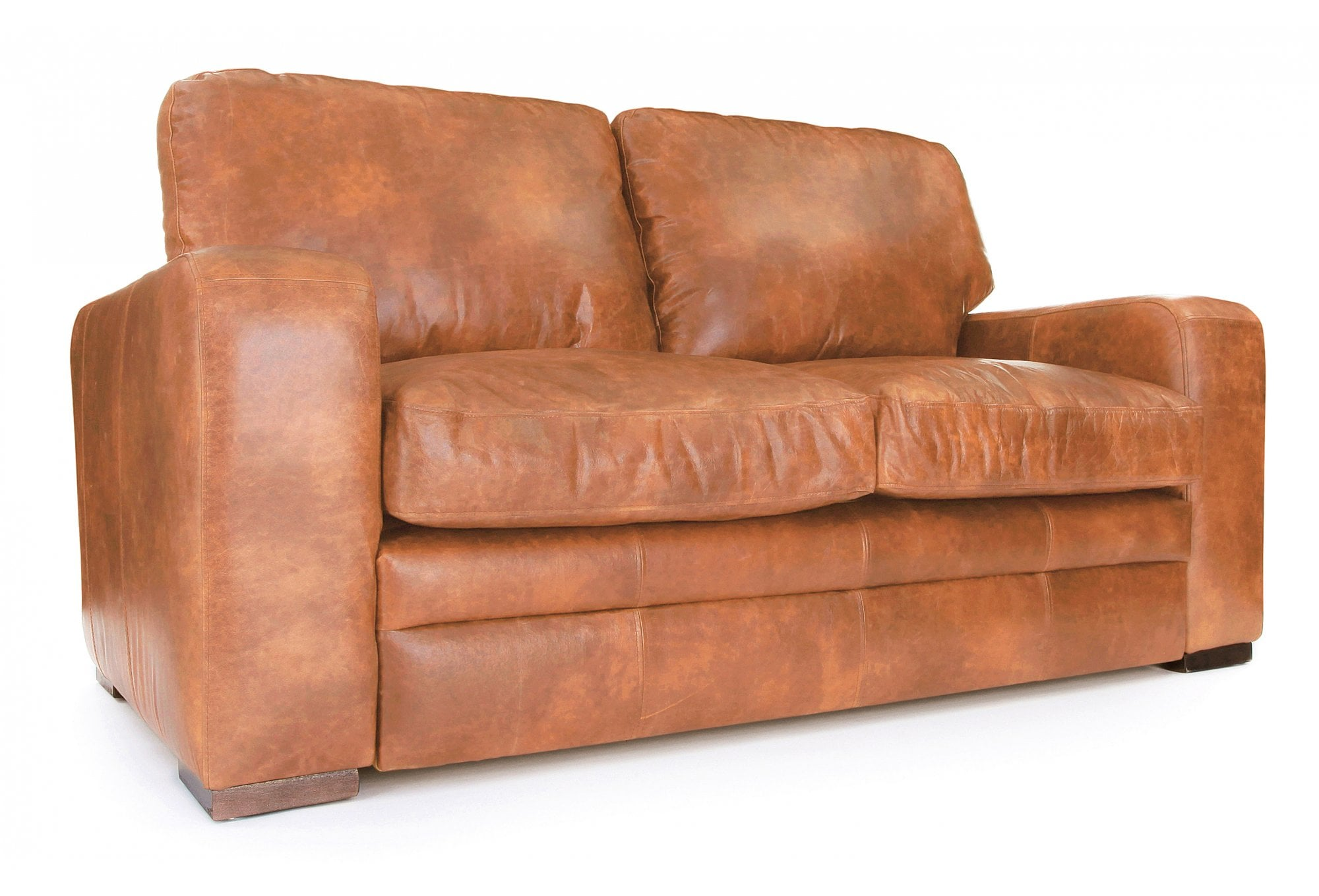 Urbanite Vintage Leather 2 Seater Sofa Bed From Old Boot