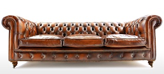 The Judge Leather Chesterfield Sofa