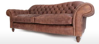 Rustic Leather Chesterfield Sofas