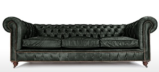 Black Leather Chesterfield Sofas